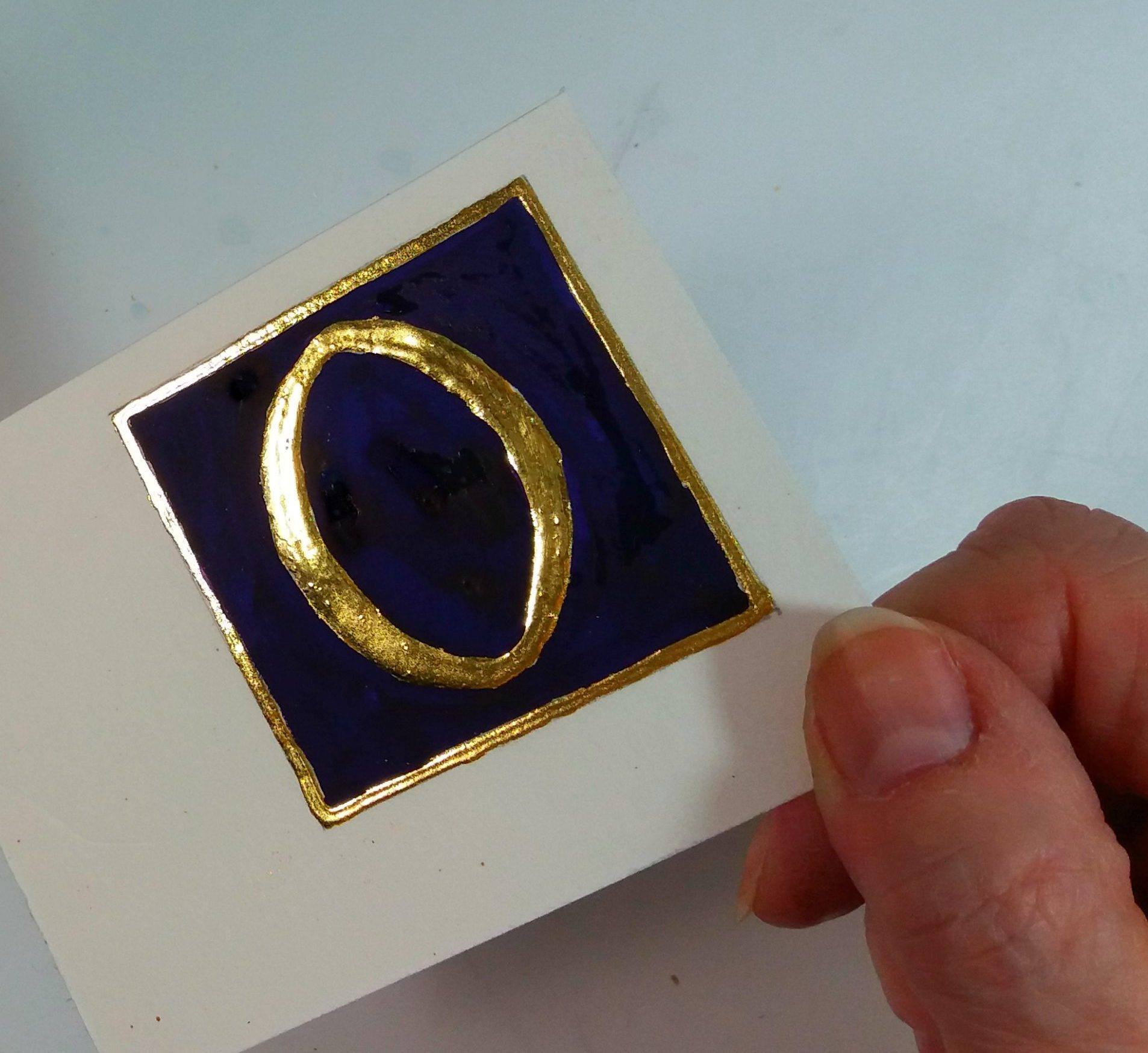 """22ct gold gilded """"Roman"""" letter O"""