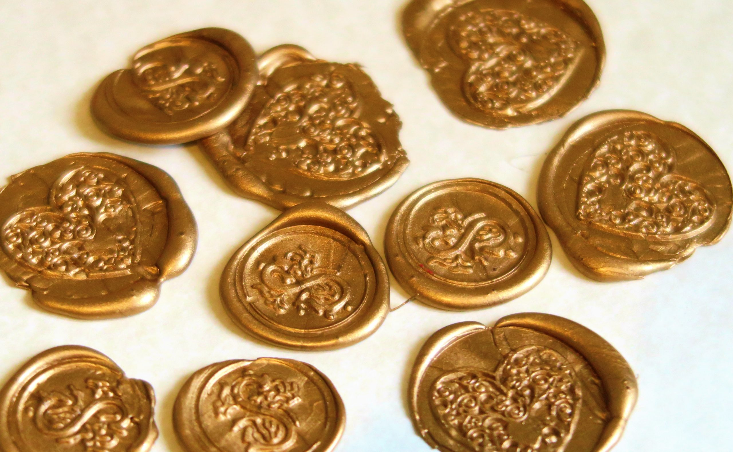Gold wax seals