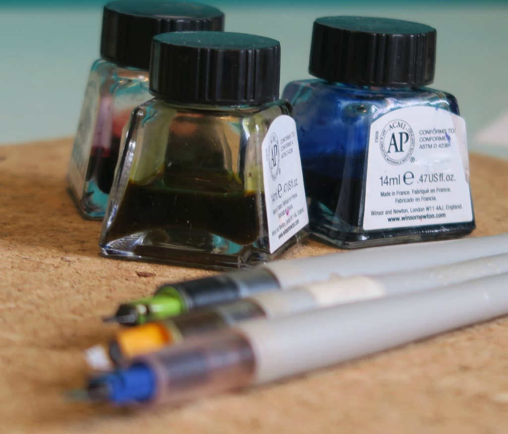Pens and inks